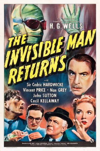 The Invisible Man Returns cast, synopsis, trailer and photos.