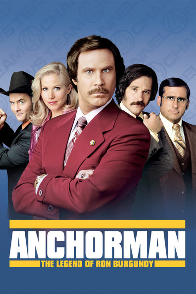 Anchorman: The Legend of Ron Burgundy cast, synopsis, trailer and photos.